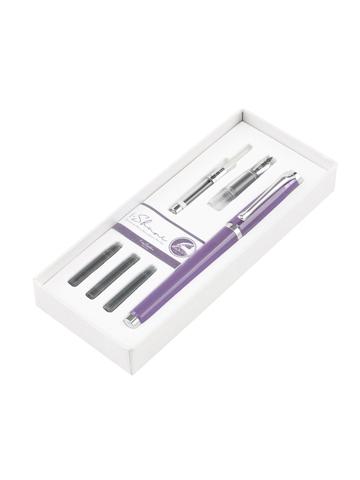 Набор Pierre Cardin I-Share - Violet, ручка-роллер + насадка с пером + конвертер + 3 картриджа