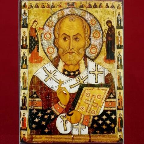 Икона святого Николая Чудотворца 13 век (Никола Липный) на дереве на левкасе мастерская Иконный Дом