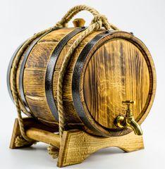 Дубовая бочка для алкоголя Премиум, 5 литров, фото 1
