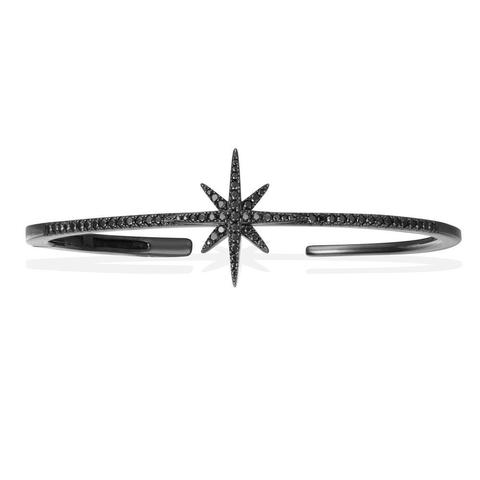 47986- Жесткий браслет METEORITES noir из серебра с черным родием