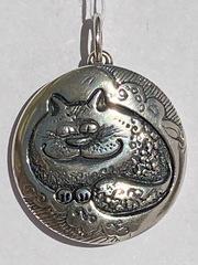 Коты (кулон из серебра)