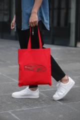 Мужская сумка-шоппер с принтом Астон Мартин (Aston Martin) красная 003