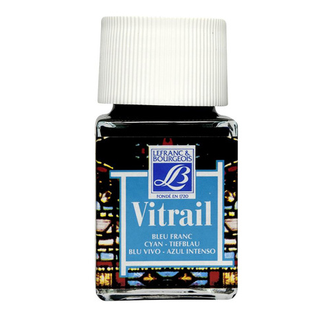 Краска по стеклу Lefranc&Bourgeois VETRAIL 50 мл 087, голубой