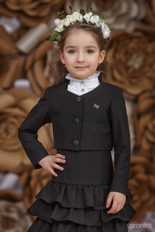 Жакет черный для девочки 9543-1