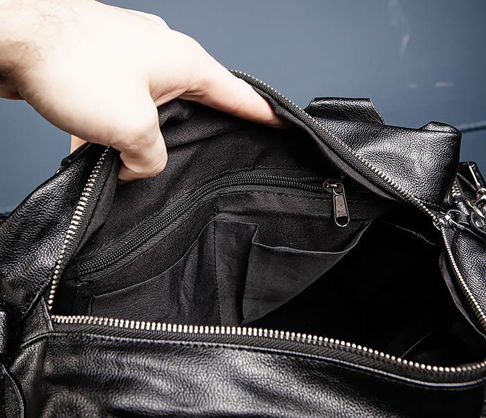 BAG547 Большая кожаная сумка для вещей с длинными ручками фото 16