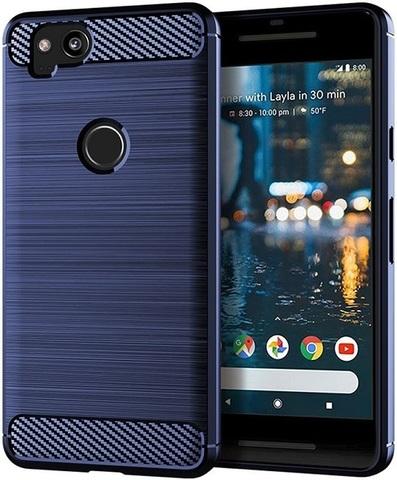Чехол на Google Pixel2 цвет Blue (синий), серия Carbon от Caseport