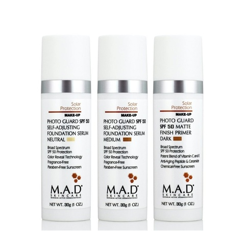 Крем-праймер матирующий  с защитой SPF 50 Dark M.A.D Skincare Solar Protection Photo Guard SPF 50 Matte Finish Primer, 30 гр