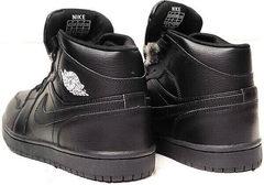Зимнее кроссовки мужские найк джордан Nike Air Jordan 1 Retro High Winter BV3802-945 All Black