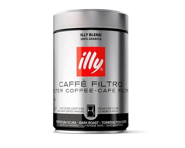 Кофе молотый Illy Caffe Dark фильтр, 250 г