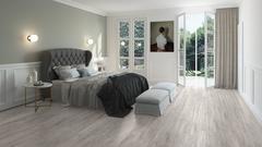ПВХ плитка, кварц виниловый ламинат Quick Step LVT Balance Rigid Click Дуб Каньон Серый Пилёный RBACL40030