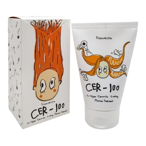 Elizavecca Cer-100 Collagen Ceramide Coating Protein Treatment коллагеновая маска для поврежденных волос