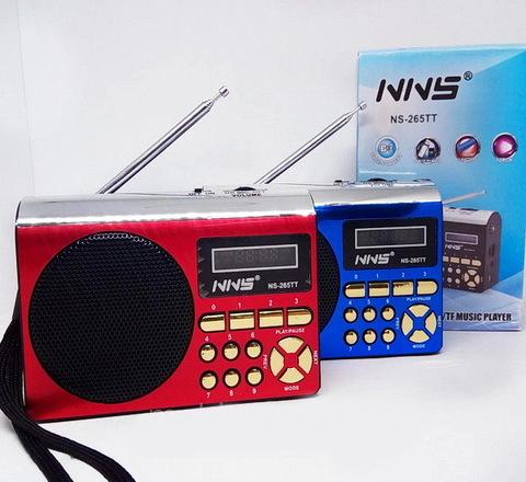 Радиоприемник NS-265TT встроенный аккумулятор MP3/FM/MicroSD/USB (4xAA)