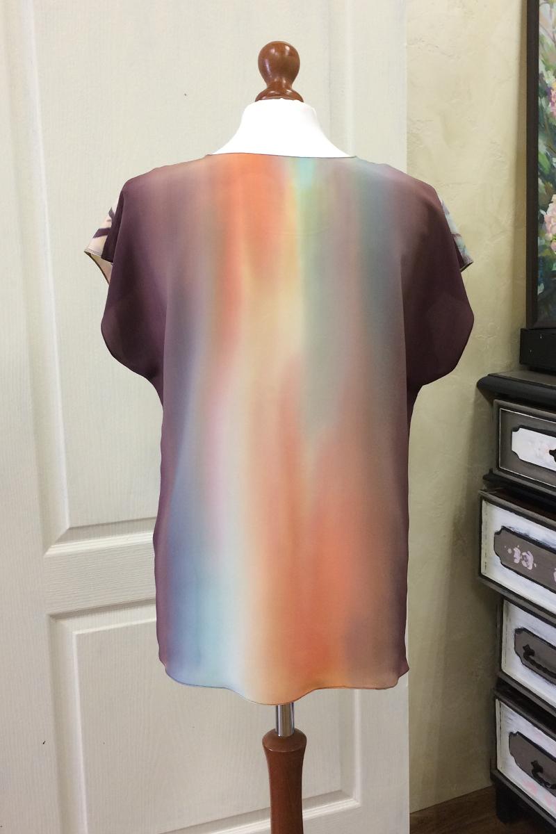 Шелковая блузка батик Сказки Леса П-182