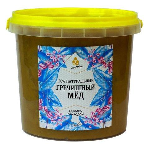 Натуральный гречишный мёд HoneyForYou, 1400 грамм