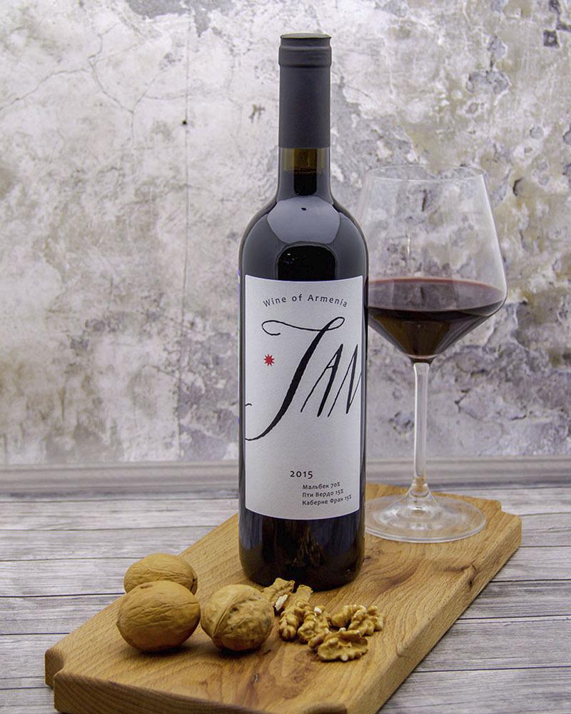 Вино Jan Красное Сухое 2015 года 14,5% ,0,75 л.
