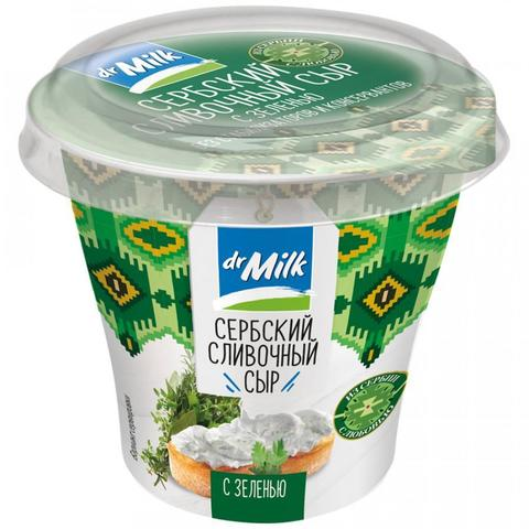 Сыр сливочный с зеленью, 150 гр.