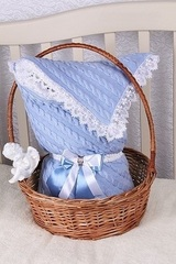 Конверт-одеяло Косичка голубой