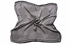 Итальянский платок из шелка серый 3826