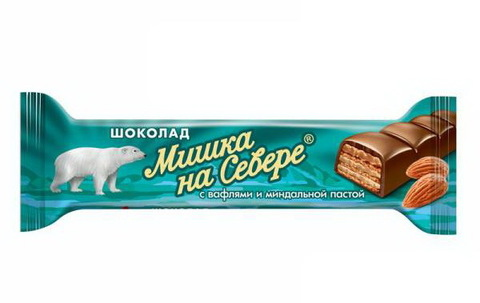 Шоколадный батончик Мишка на Севере