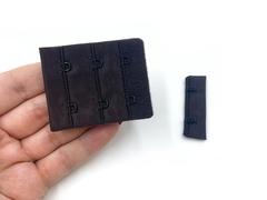 Застежка с крючками шоколад 2 ряда (цв. 111)