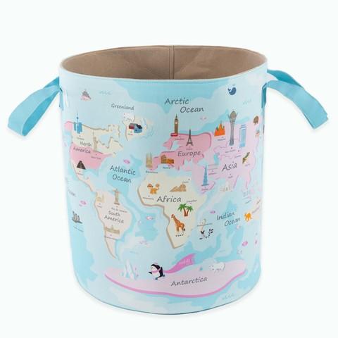 Детская корзина для игрушек синяя-розовая 35*114*46 см (принт 209-01) Adili