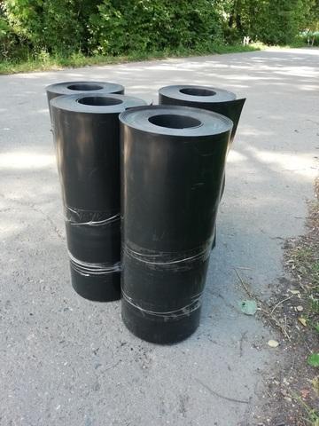Лента бордюрная высота 90 см. толщина 2 мм, 10 метров в рулоне. цвет Черный