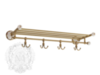 Полка держатель для полотенец с крючками Migliore Provance ML.PRO-60.529 керамика с декором