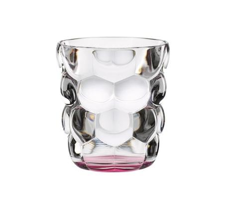 Набор из 2 стаканов для воды с розовым донышком Bubbles, 330 мл