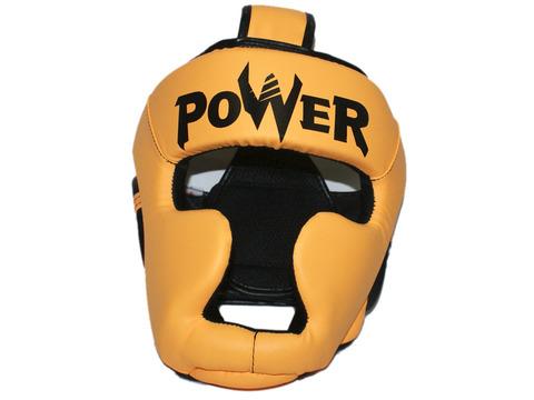 Шлем боксёрский закрытый, индивидуальная упаковка. Материал: кожзаменитель. Усиленная защита области ушей, сзади застежка на липучке. Цвета: оранжевый, размер L. HT-L-ОРН
