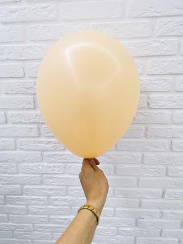 №15 Персиковый Гелиевый шар пастель 30см с обработкой