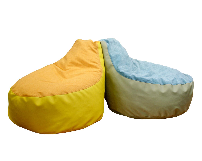 Кресло-мешок Клио (бин бег), чехол - ткань + кожзам