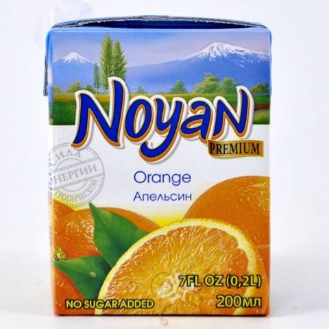 Сок апельсиновый Noyan, 200мл