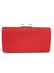 Красный клатч с золотистой фурнитурой