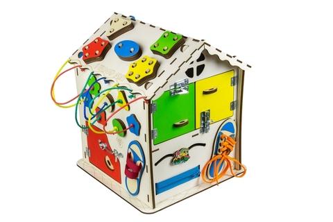 Бизиборд IWOODPLAY дом средний 30х30х40см