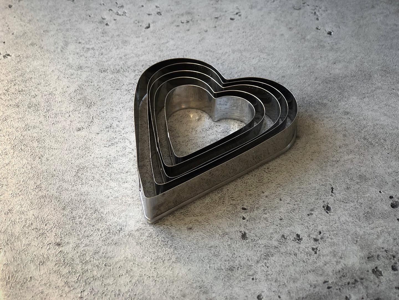 Набор вырубок «Сердца», 3 шт