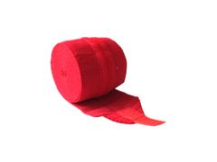 Бинт эластичный спортивный (CROSSFIT) с застёжкой велкро. Цвет: красный. Длина 3,5 м, ширина 8 см: С-310
