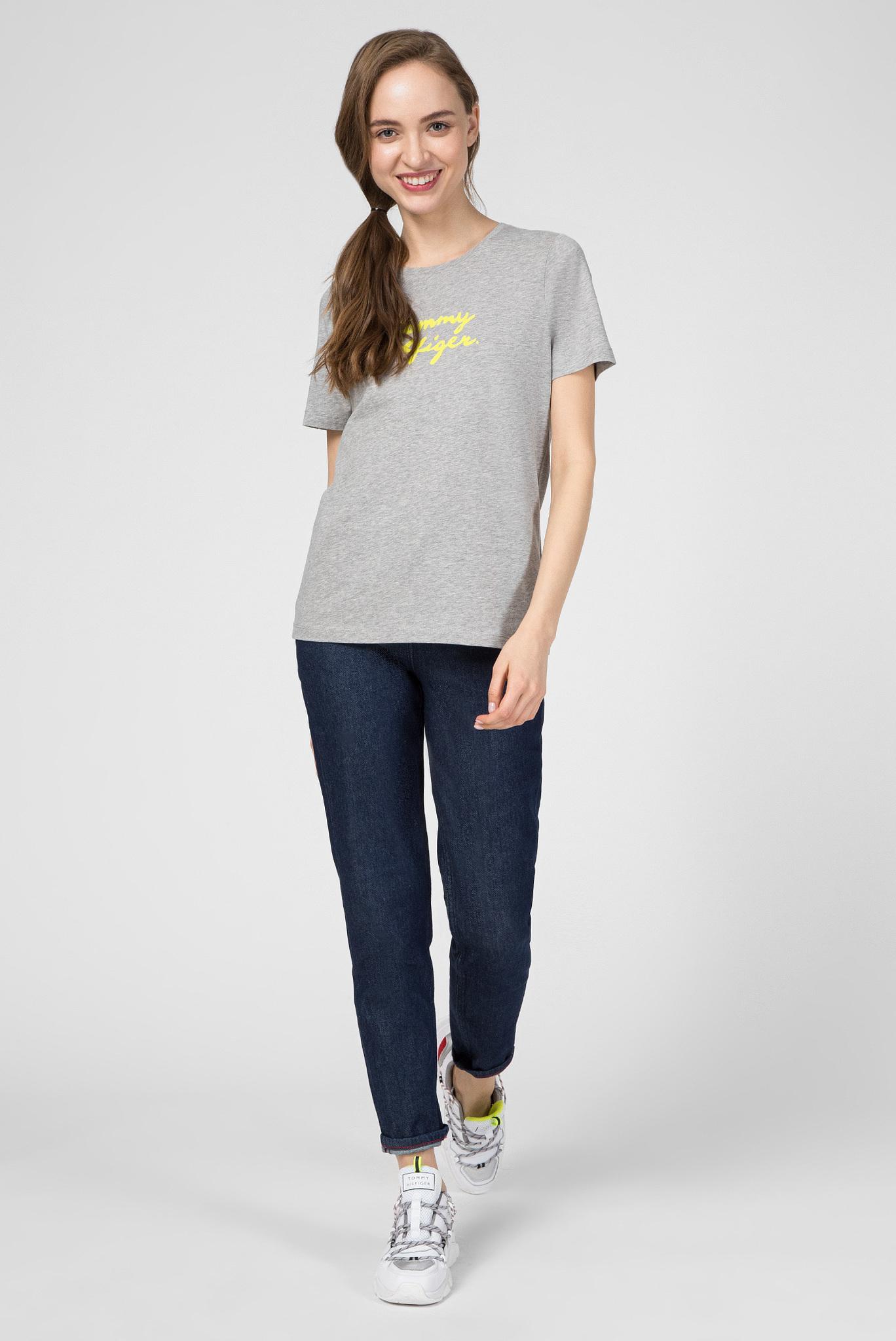 Женская серая футболка PENNY C-NK Tommy Hilfiger