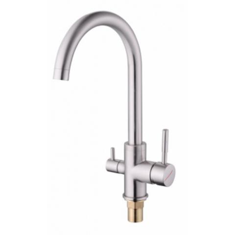 VIKO 5154, смеситель для кухни и под фильтр, цвет серебро Silver