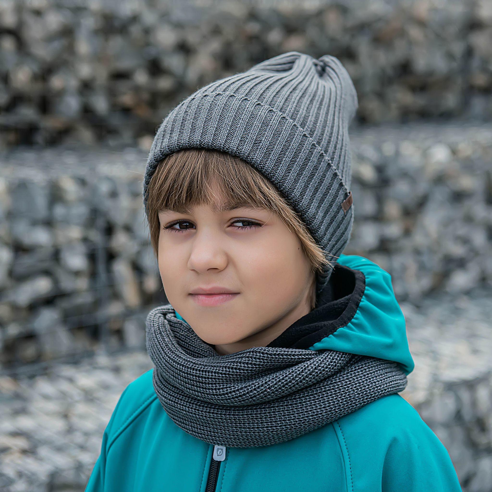 Beanie hat for teens - Graphite