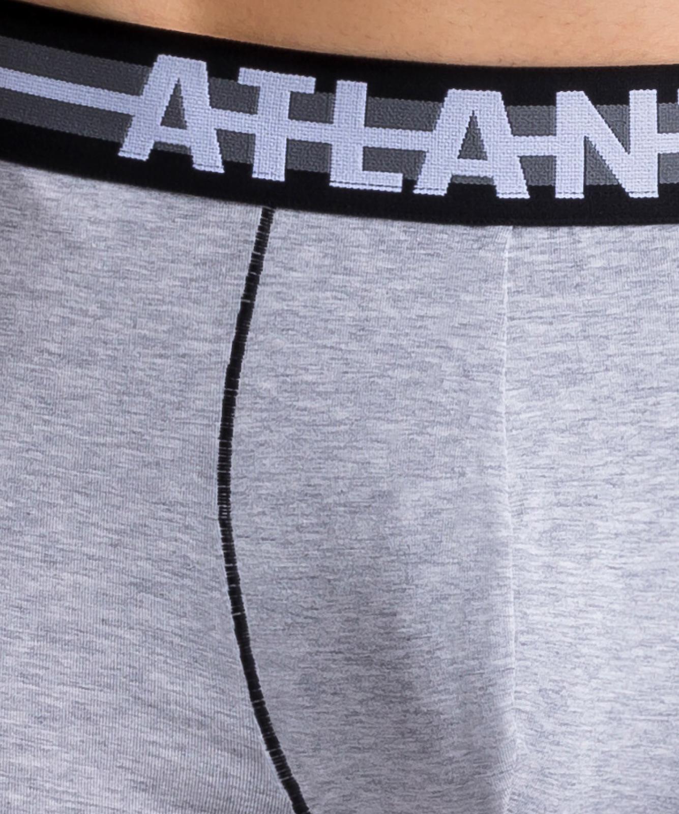 Мужские трусы шорты Atlantic, набор из 3 шт., хлопок, хаки + серый меланж + оранжевые, 3SMH-001