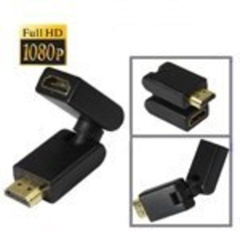 HDMI 360 вращающийся поворотный адаптер  адаптер трансформер 360 градусов HDMI M - HDMI F