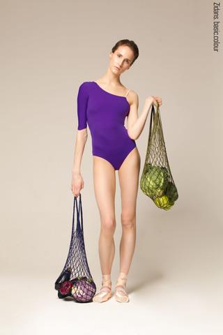 1 Sleeve 1 Strap leotard | violet