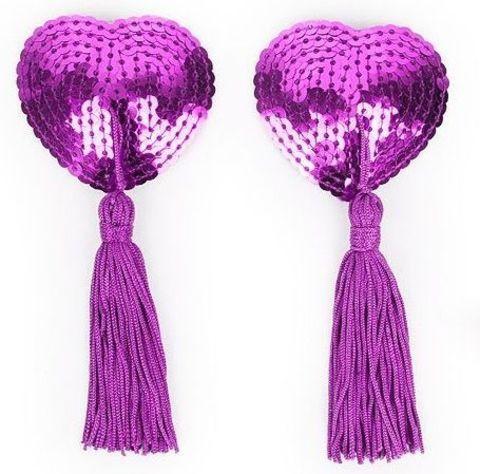 Фиолетовые пэстисы с кисточками