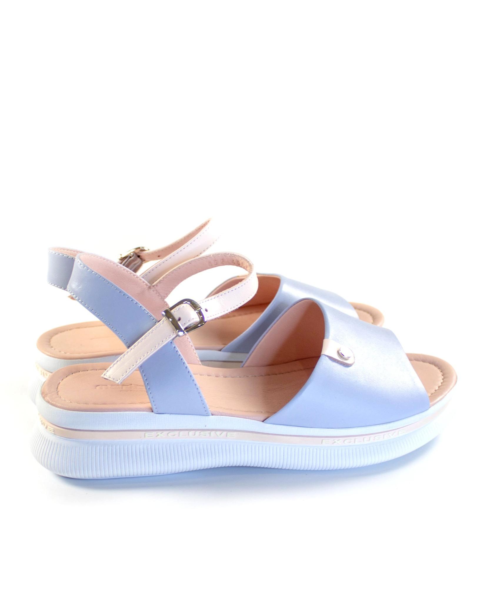 голубые сандалии Mario Muzi