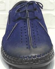 Мужские летние туфли мокасины кожа стиль casual Luciano Bellini 91268-S-321 Black Blue.