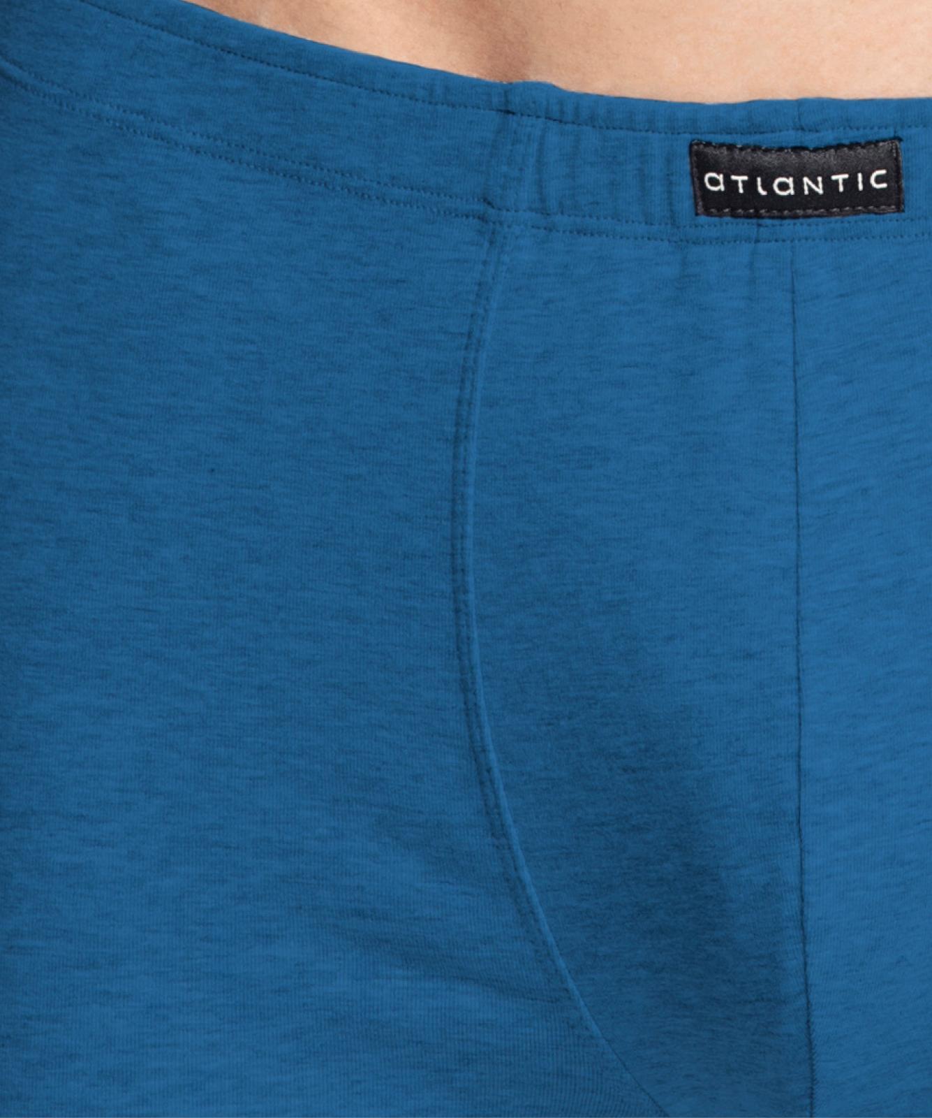 Мужские трусы шорты Atlantic, набор из 3 шт., хлопок, темно-синие + голубой меланж + деним, 3MH-008