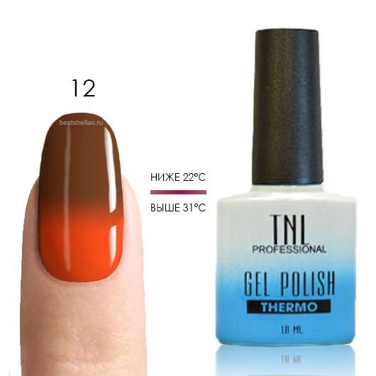 Термо TNL, Термо гель-лак № 12 - шоколадный/оранжевый, 10 мл 12.jpg