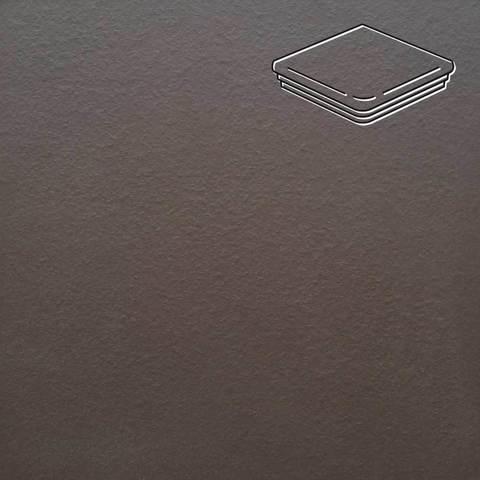Ceramika Paradyz - Natural Brown Duro, 330x330x11, артикул 20 - Ступень угловая с капиносом структурная