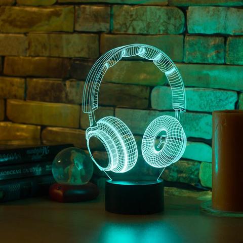 3D ночник Наушники