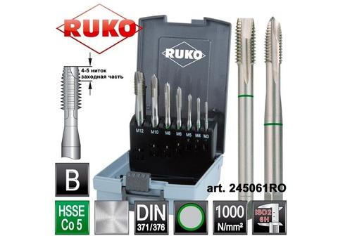 Набор метчиков машинных Ruko DIN371/376 HSSE-Co5 M3-12 7пр 245061RO (АКЦИЯ)
